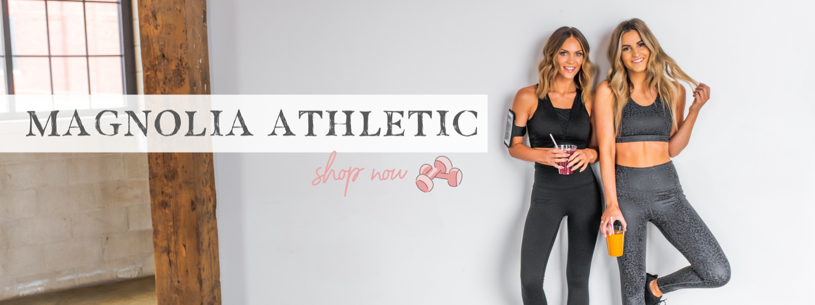 two models in workout sports bras and leggings