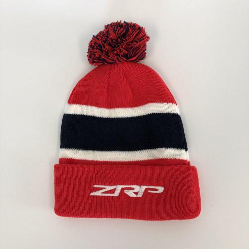ZRP Pom Beanie Red / Navy