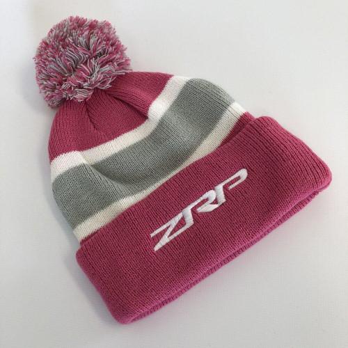 ZRP Pom Beanie Pink / Grey