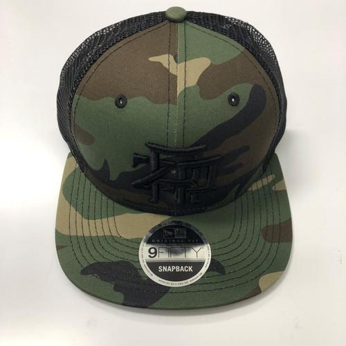 ZRP Monogram Puff Embroidered Hat - Camo New Era 9Fifty