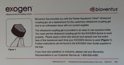 Ultrasound Gel for the Exogen Ultrasound Bone Stimulator - Free Priority Shipping