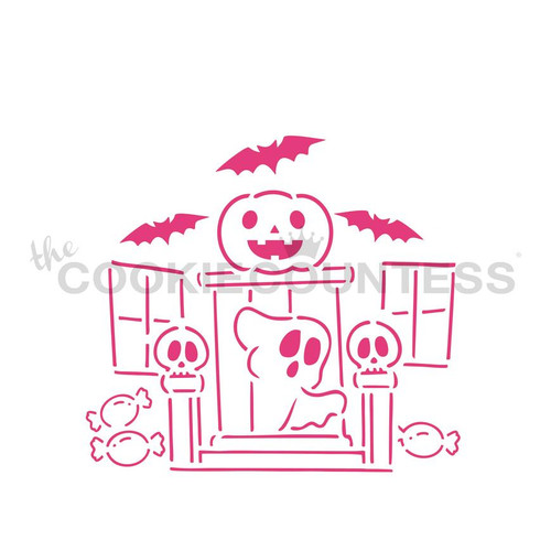 Cookie Countess Spooky Shack 4 Piece Stencil