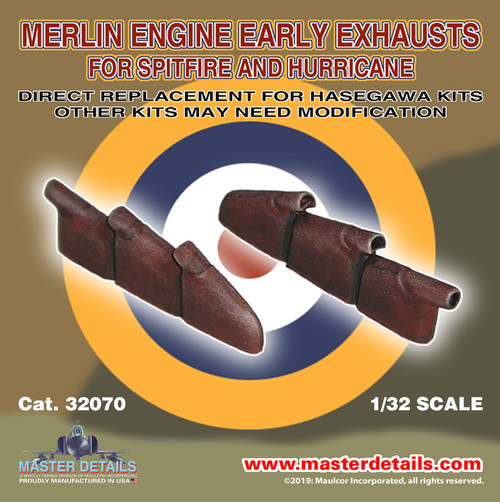 32070 - 1/32 Merlin Engine Early Exhausts