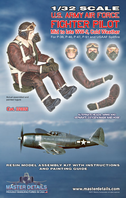 32032 - 1/32 U.S.A.A.F. Fighter Pilot Cold Weather Mid-Late WW-2