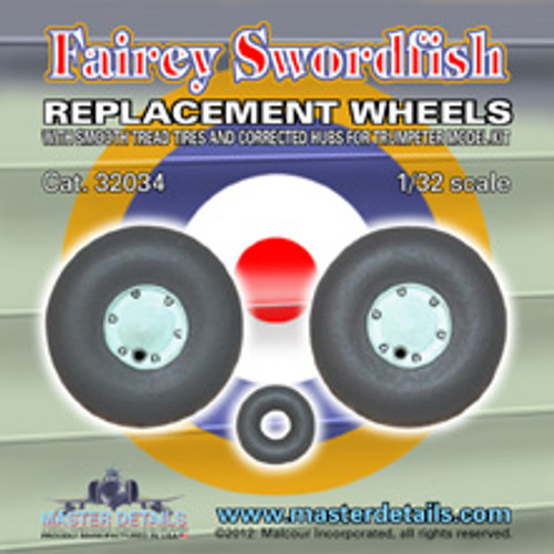 32034 - Fairey Swordfish Replacement Wheels