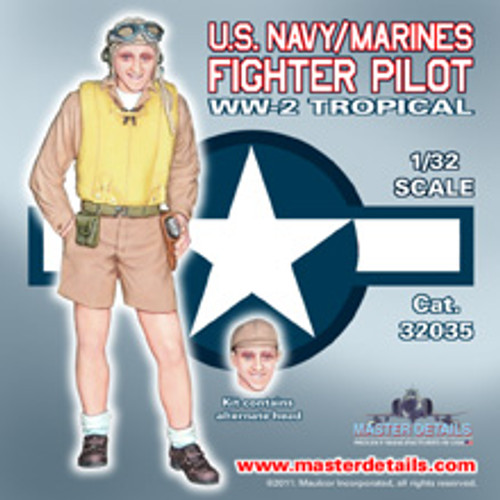 32035 - 1/32 U.S. Navy/Marine WW-2 Standing Tropical