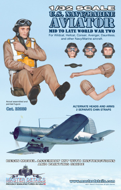 32039 - 1/32 U.S. Navy/Marine Aviator Mid-Late WW2