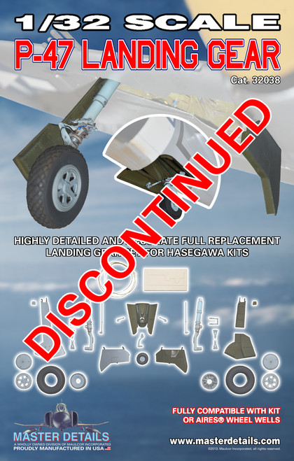 32038 - 1/32 Scale P-47 Landing Gear -DISCONTINUED-