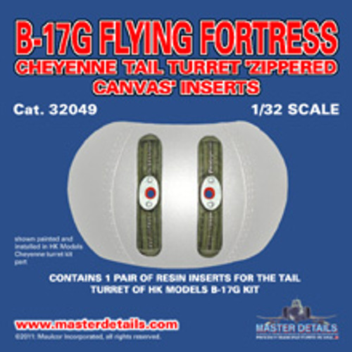 32049 - B-17G Tail Turret 'Zippered Canvas' inserts