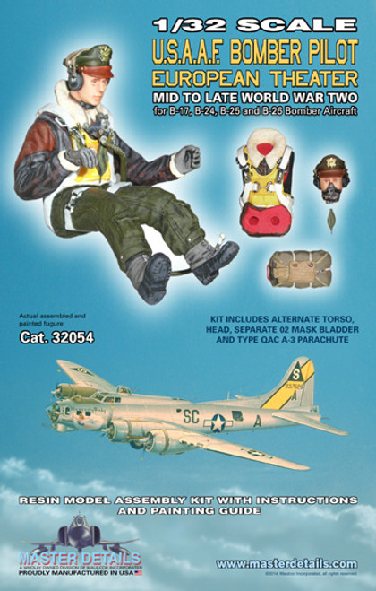 32054 - 1/32 U.S. Bomber Pilot European Theater