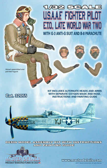 32055 - 1/32 USAAF Fighter Pilot ETO Late World War Two