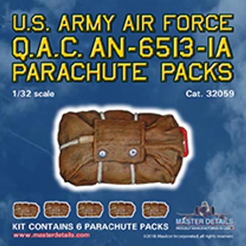 32059 - USAAF Q.A.C AN-6513-1A Parachutes (X6)
