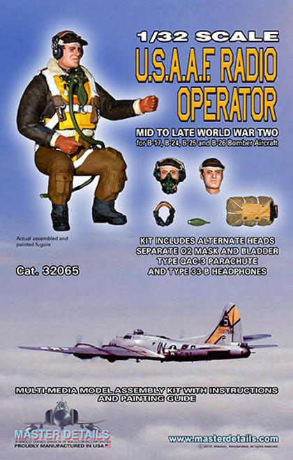 32065 - 1/32 USAAF Radio Operator Mid to Late WW TWO