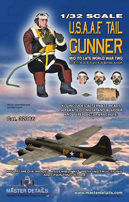 32066 - 1/32 USAAF Tail Gunner Mid to Late WW TWO