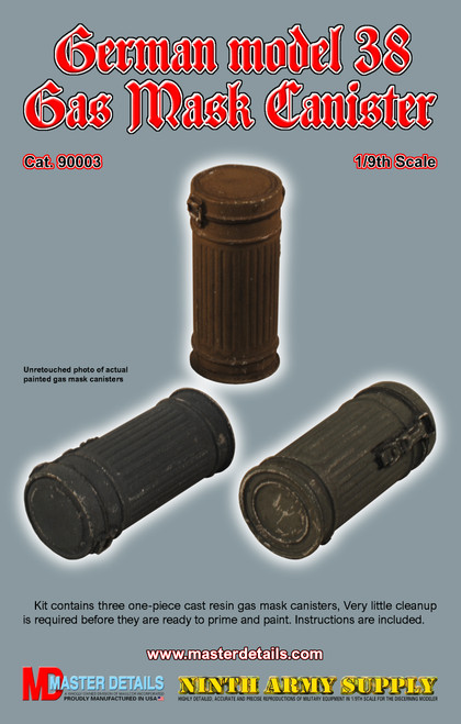 90003 - German model 38 Gas Mask Canister