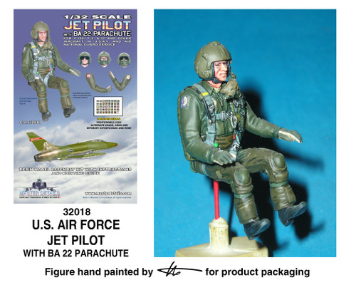 TFA 32018 U.S. Air Force Jet Pilot with BA 22 Parachute *Painted Master*