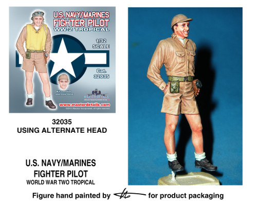 TFA 32035ALT U.S. Navy/Marines Standing Pilot Alternative Head *Painted Master*