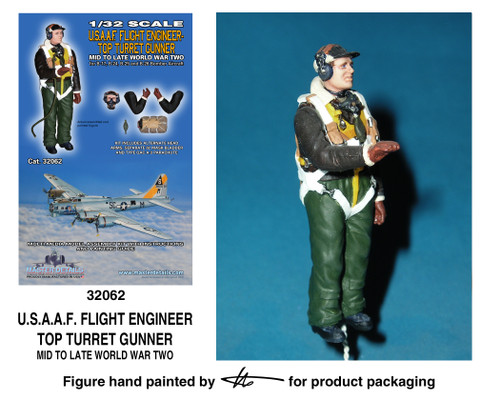 TFA 32062 U.S.A.A.F. Flight Engineer Top Turret Gunner *Painted Master*