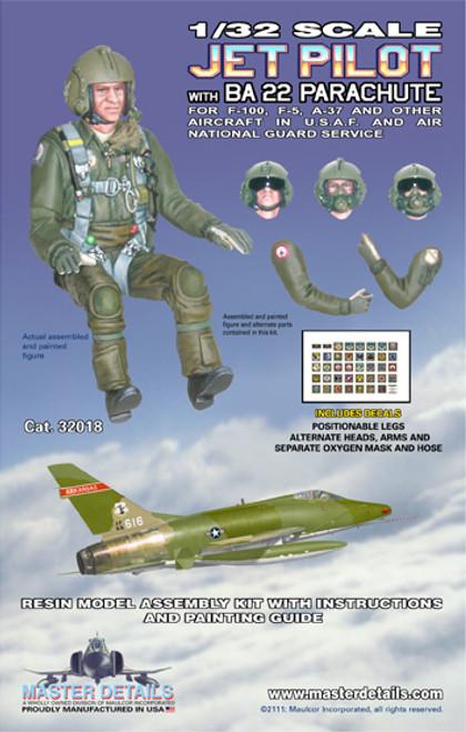 32018 - 1/32 Jet Pilot with BA 22 Parachute