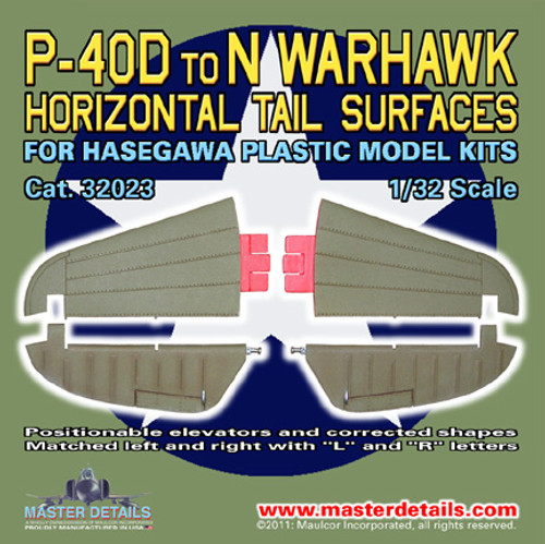 32023 - P-40D to N Warhawk (Kittyhawk) Horizontal Tail Surfaces