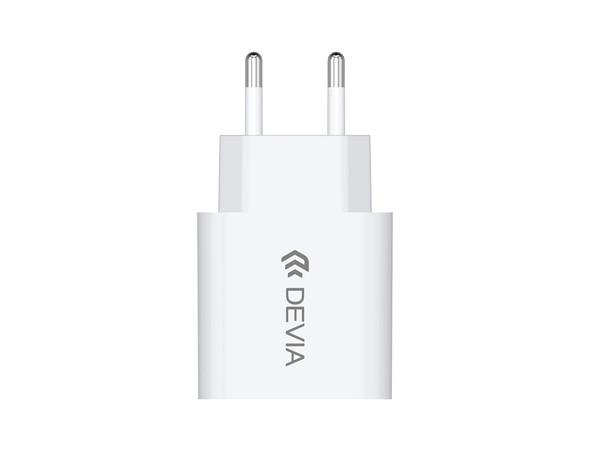 2.1A USB 2-Pin EU Charging Plug - White