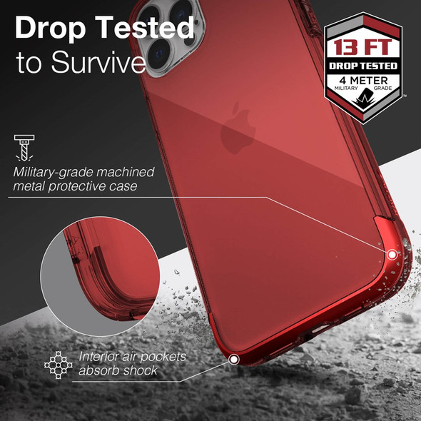 Raptic Air for iPhone 13 Pro Max - Red
