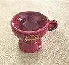Ceramic censer, burgundy. Features a cross with IC XC NIKA.