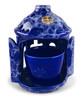 Ceramic tabletop vigil lamp, blue