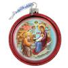 Ornament, Nativity icon, red half-sphere