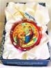 Ornament, Nativity icon, red half-sphere in presentation box