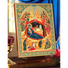 Nativity of Christ with Angels (gold embossed), extra-large icon. View of icon displayed.