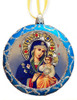 Ornament, Eternal Bloom on blue with silver accents, Ukrainian