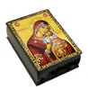 Wooden Icon Box, Sweet Kissing, small