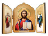 Triptych: Christ with Archangels Michael and Gabriel, medium icons