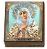 Wooden Icon Box, Humility of Virgin Mary, large