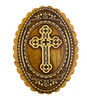 Wooden Box, Ornate Cross on birch