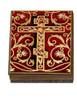Wooden Icon Box, Burgundy Cross, large