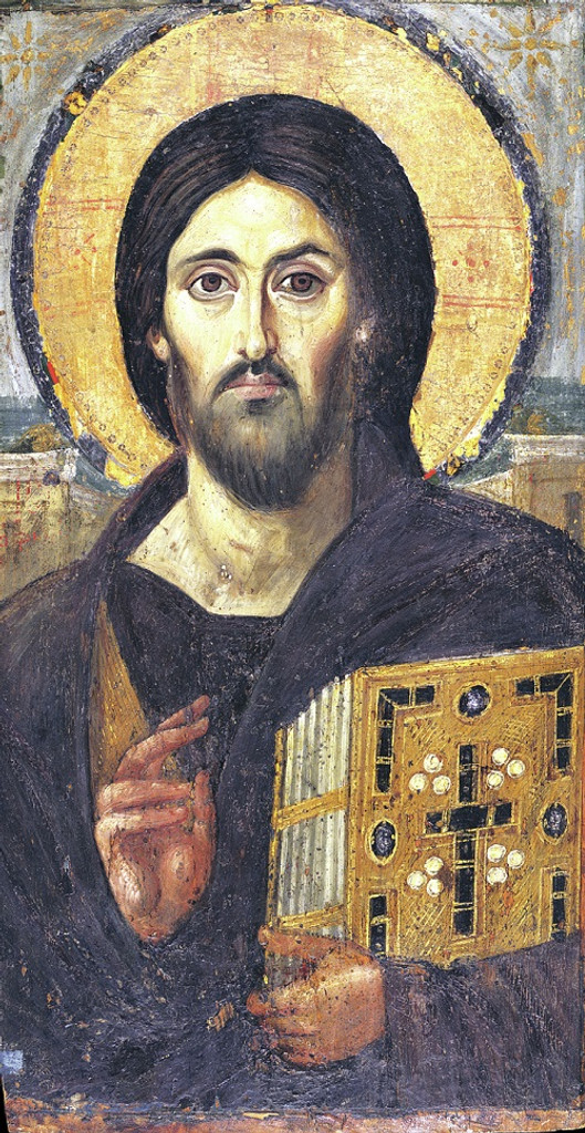 Christ Pantocrator, large icon from St. Katherine's Monastery