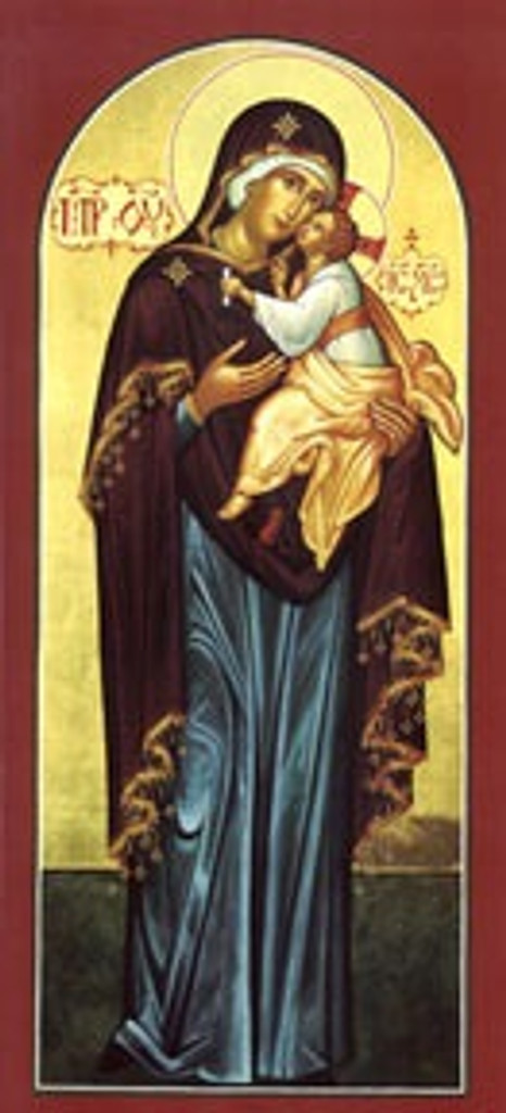 Virgin Mary and Child, full-figure icon