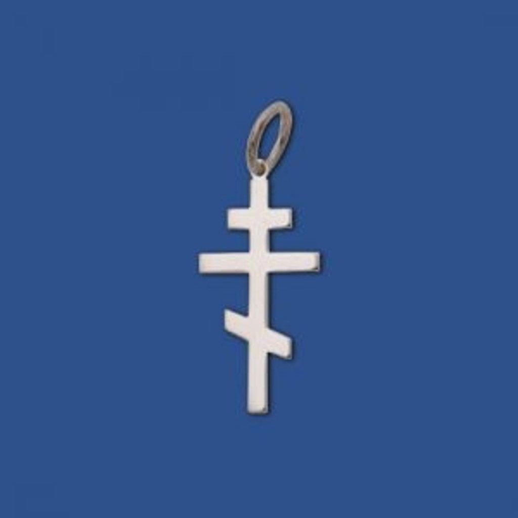 St. Andrew Cross, sterling silver, small