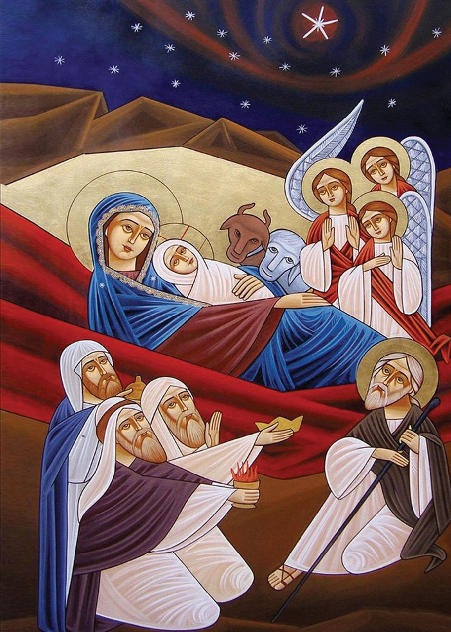 Christian Christmas Cards 2020 Welcoming Christ (2020), pack of 15 Christmas cards   Ancient