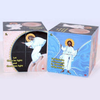 Orthodox Learning Cube, The Creation. Lord creates light and seas.