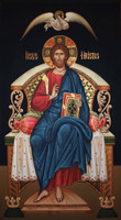 Christ Enthroned (on black), large icon
