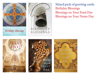 Mixed pack of 10 Birthday, Name Day, & and Feast Day cards