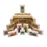 Little Saints Nativity Playset C. Includes 22 blocks and a fabric storage bag.