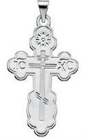 St. Olga Cross, 14k white gold, medium