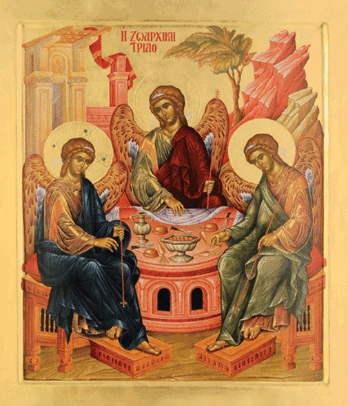 Holy Trinity, Hospitality of Abraham, large icon