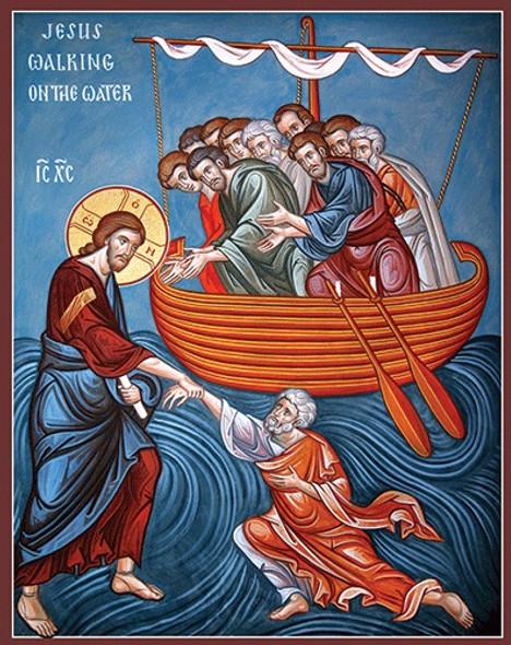 Jesus Walking on the Water, large icon