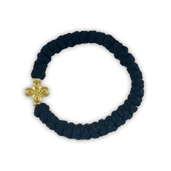 Prayer Bracelet, 33 knots with cross