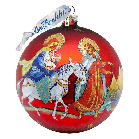 Ornament, Flight to Egypt icon ball ornament